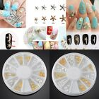 3D DIY Mix Metal Ocean Shell Decals Gold/Silver Nail Art Craft Decor Stud Wheel