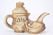 Swagman Pottery Made In Australia Boot Shaped Teapot With Kangaroo Platypus