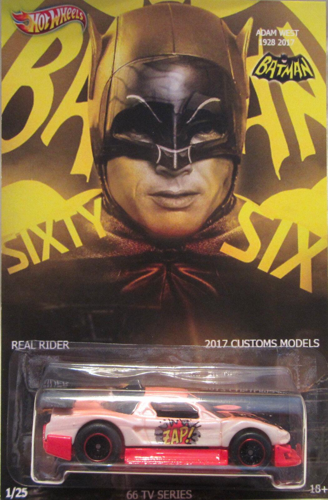 Hot Wheels Personalizado Acura NSX Batman-Adam West homenaje homenaje homenaje Real Riders 1 25 hecho  5dd43a