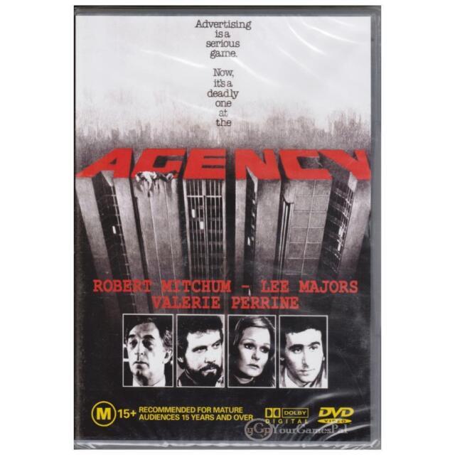 DVD AGENCY Robert Mitchum Lee Majors 1980 Drama Thriller ALL PAL REGIONS [BNS]