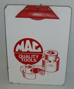 Mac-Tools-Advertising-Clipboard-Clip-Board-Vtg-12-5-034-By-9-034