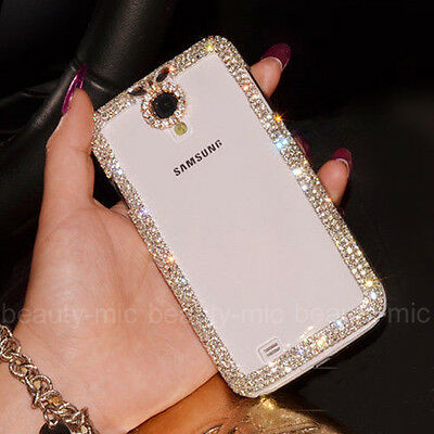 New Luxury Bling Diamond Crystal Bumper Frame Back Clear Hard Case Cover Skin