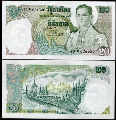 THAILAND 20 BAHT ND 1971 P 84 SIGN 47 BOONCHU//SANOH UNC