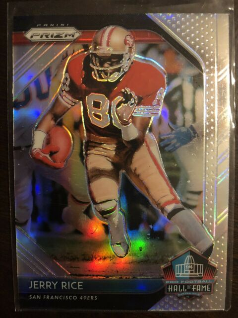 2018 PANINI PRIZM JERRY RICE HALL OF FAME SILVER PRIZM 49ERS