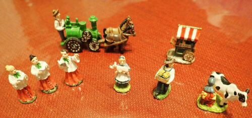 Liberty Falls Miniature Collection Cow, Flower Cart, Horse Drawn Tractor, Etc.