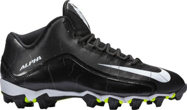 new products a911b 28d6e NEW NIKE ALPHA SHARK 2 3 4 MID FOOTBALL CLEATS SHOES 16 BLACK NIB