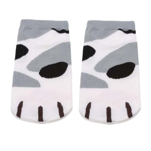 1 Pair Women Cat Claws Cute Cartoon Girls Cotton Ankle Socks Low Cut Socks LC