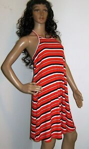 mossimo supply target ribbed knit halter tank dress red