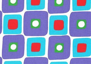 Geometric Print Design Pattern Blue Red Green Upholstery Curtain Fabric