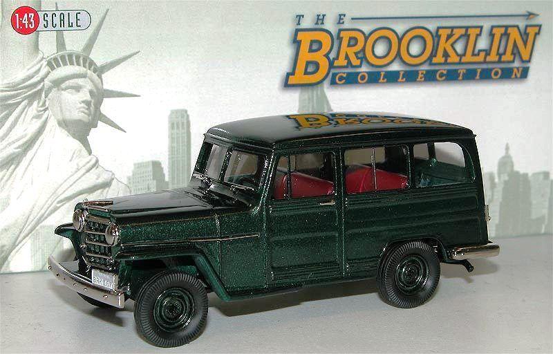Brooklin models BRK 167 1952 WILLYS OVERLAND Stationwagon 4x4 vert  1 43  achats de mode en ligne