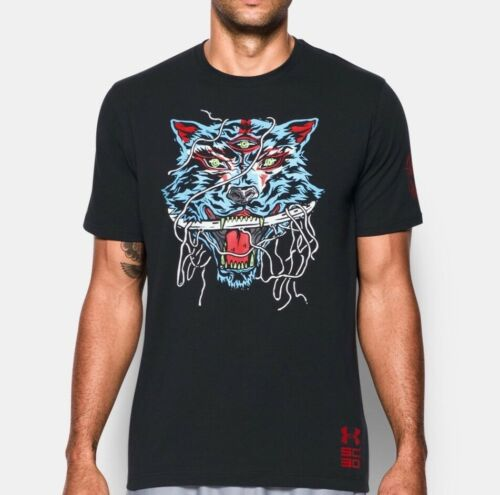 UNDER ARMOUR MEN/'S SC30 HEAVY IS THE HEAD STEPH CURRY BASKETBALL T SHIRT BLACK