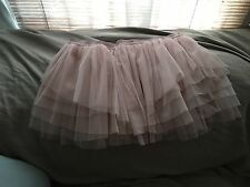 NEW Free People IFP blush pink tulle Tutu Mini Tiered Slip Skirt L