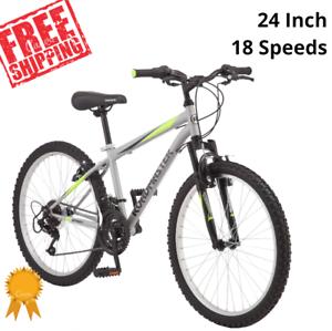 Granite Peak Boy/'s Mountain Bike MTB 24-inch wheels 18 Speeds Front Suspension