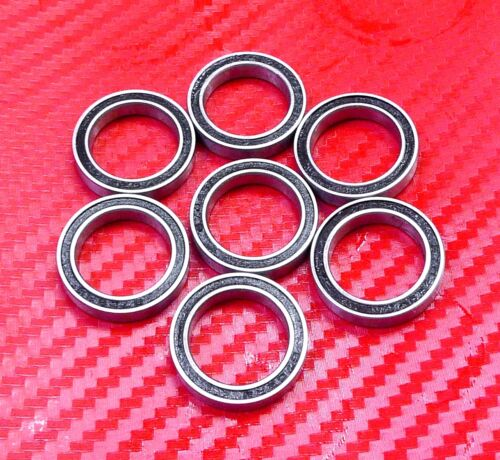 17x23x4 mm Black Rubber Sealed Ball Bearing Bearings 6703RS 10pcs 6703-2RS