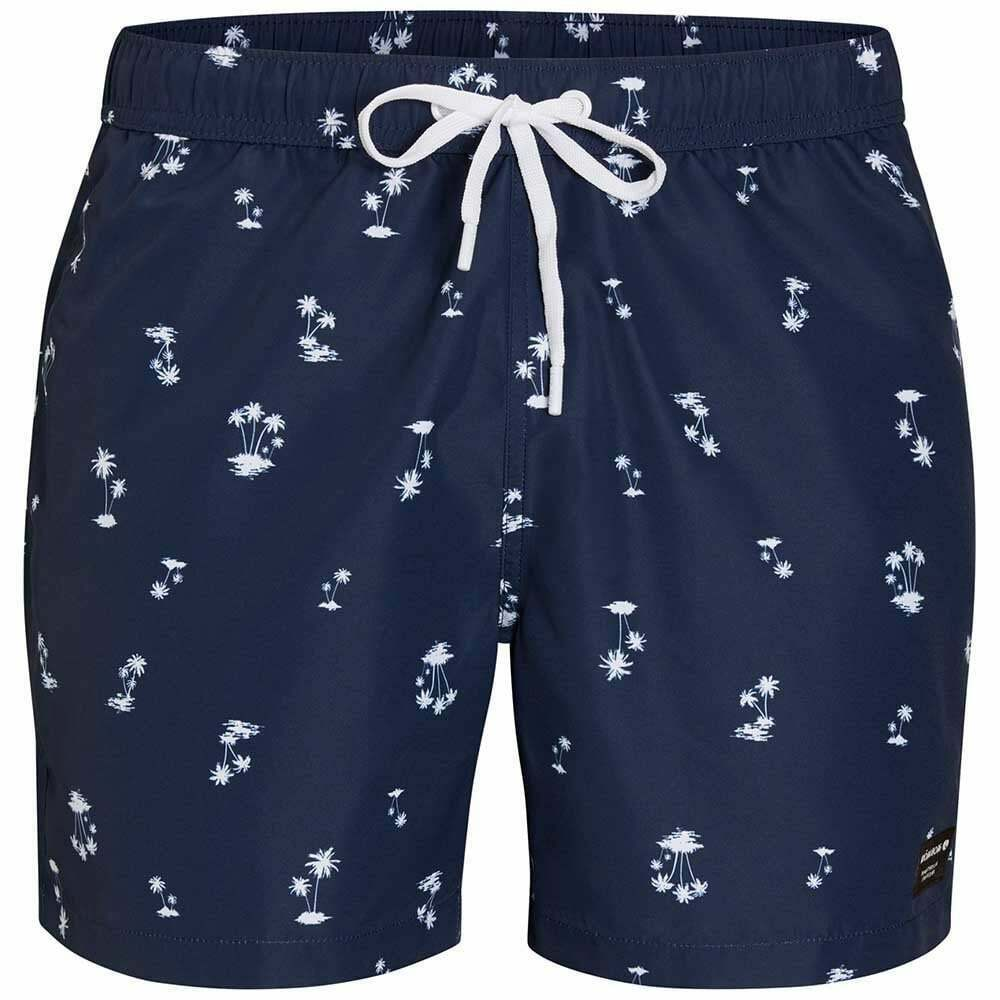 Bjorn Borg L.A. Mini Palms Print Men's Swim Shorts, Insignia bluee