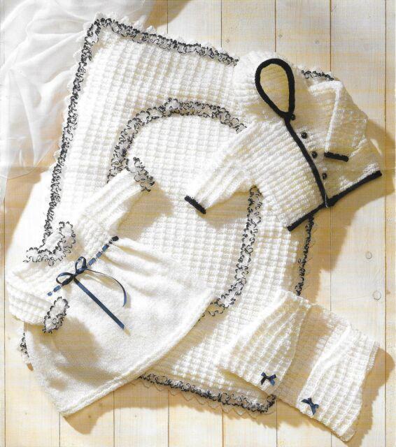 1a8b48e37ecf Vintage Baby Knitting Pattern Premature - 6 Months DK Quilt Dress ...