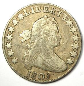 1805 Draped Bust Half Dollar 50C - VF Details - Rare Early Coin!