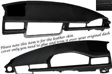 BLACK STITCH DASH DASHBOARD LEATHER SKIN COVER FITS MERCEDES E CLASS W124 83-95