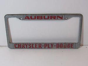 image is loading vintage auburn chrysler dodge license plate frame embossed - Dodge License Plate Frame