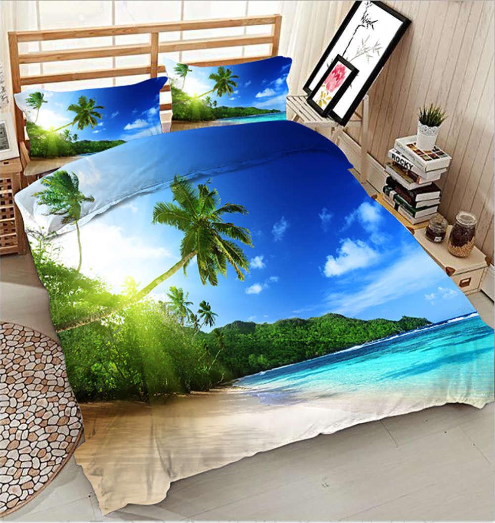 Hot Summer Sea 3D Printing Duvet Quilt Doona Covers Pillow Case Bedding Sets
