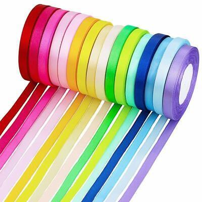 """Red Satin Edging Solid Reels rv Organza Ribbon 5//8/"""" Wide 25 Yd Yard Roll"""