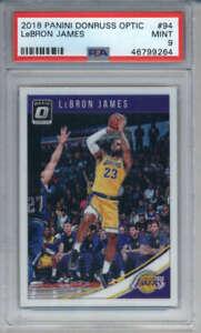 2018-19-Donruss-Optic-LeBron-James-94-Los-Angeles-Lakers-PSA-9