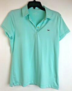 Vineyard-Vines-Womens-Golf-Performance-Polo-Shirt-Sz-Small-Capri-Blue-Polyester