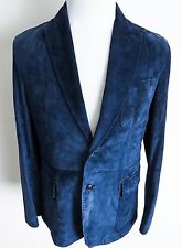 $6500 NWT BRIONI Sartorial Blue Suede Leather Slim Fit Jacket Blazer Size Large