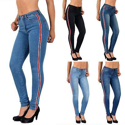 Donna Jeans Skinny Pagine Strisce High Waist Jeans Con Strisce Alta Federale J330-mostra Il Titolo Originale Rinfrescante E Arricchente La Saliva