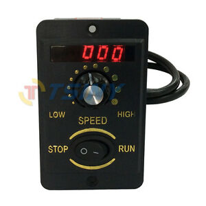 6w Digital Display 220v Ac Motor Electrical Speed