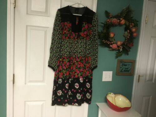 Women's BEAUTIFUL Anna Sui Floral Silk Sheer Tunic