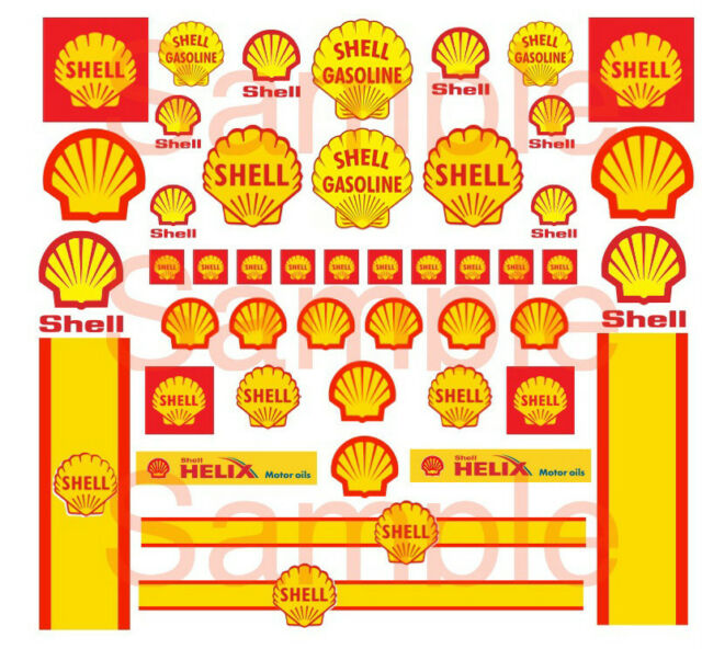Shell hot wheels decals water slide 164 scale decal sheet 1 64 gasoline