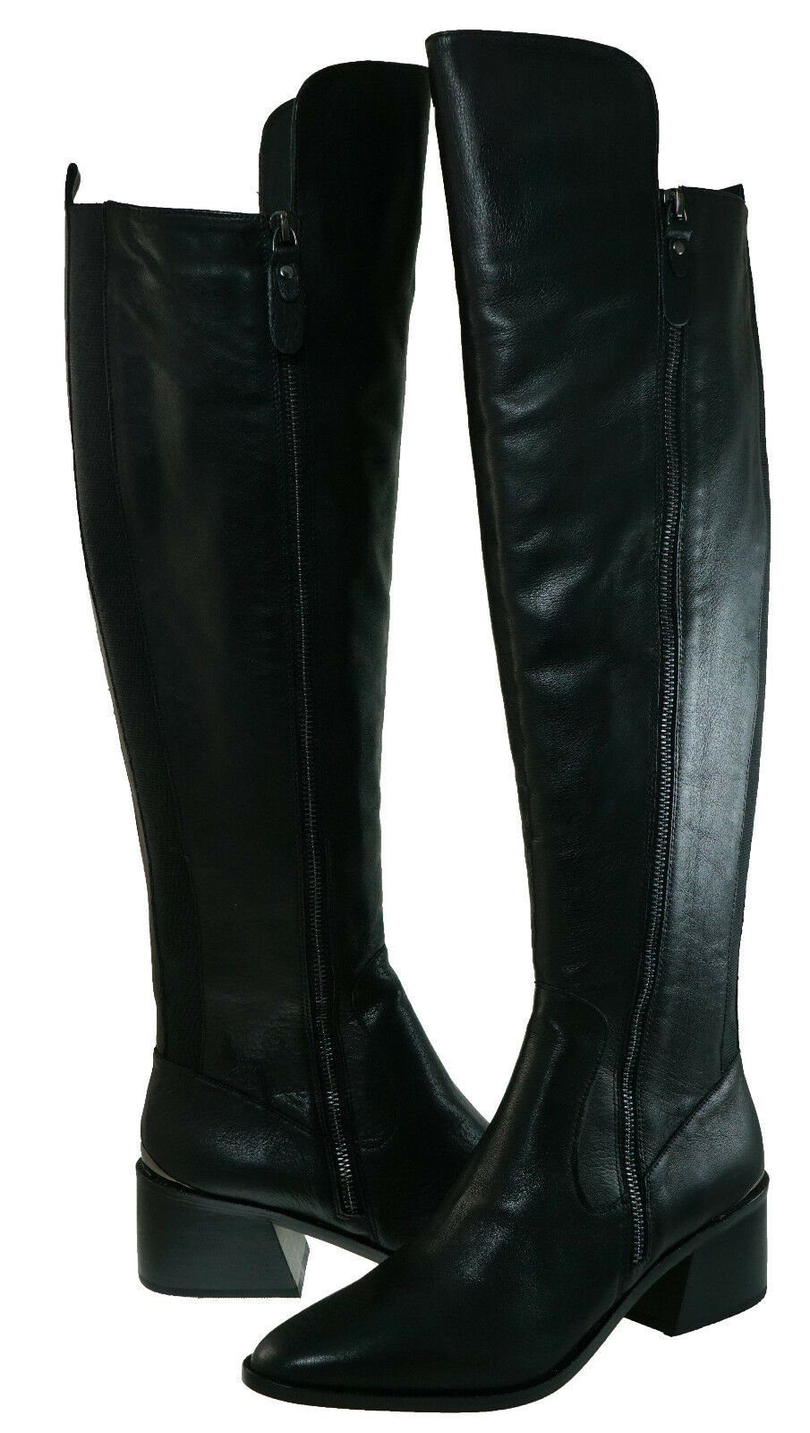 Dolce Vita Womens Cinco Pull On Double The Side zipper Tall Over The Double Knee Boots 516339