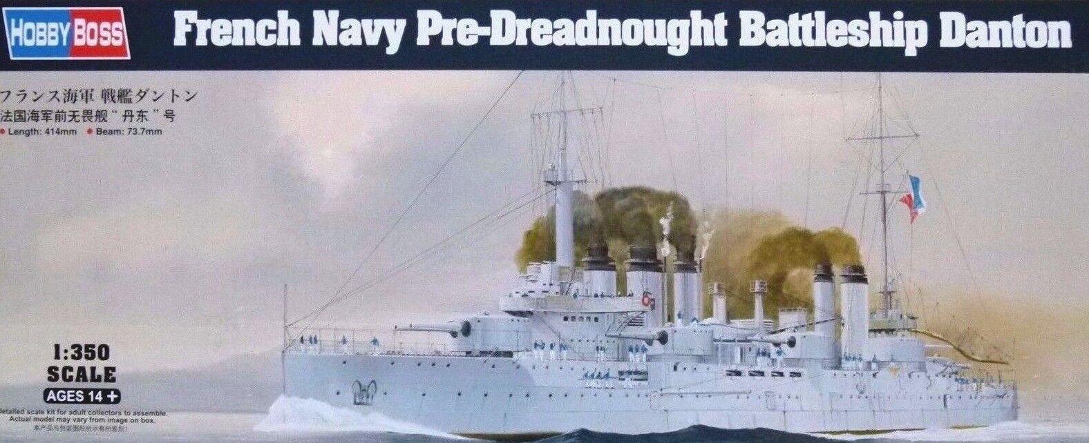 Hobbyboss 1 350 Danton French Navy Pre-Dreadnought Battleship Model Kit
