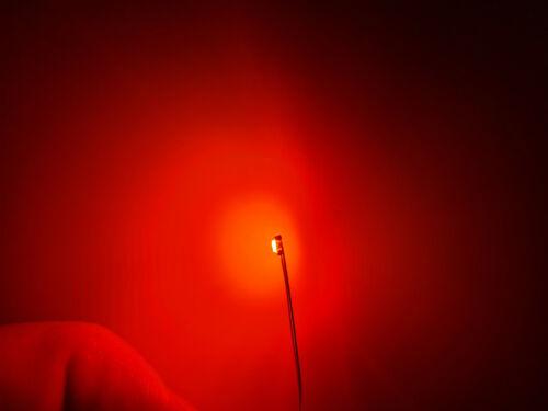 10 Stück SMD LED 0603 orange-rot mit 30cm Microlitze Miniatur LED mit Kabel #A32