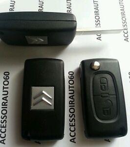 Cle-Plip-coque-telecommande-2-boutons-CITROEN-C1-C2-C3-pluriel-CE0536