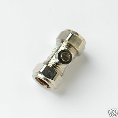 Pack Of 2 x 15mm Isolating Valves CP Compression Joint