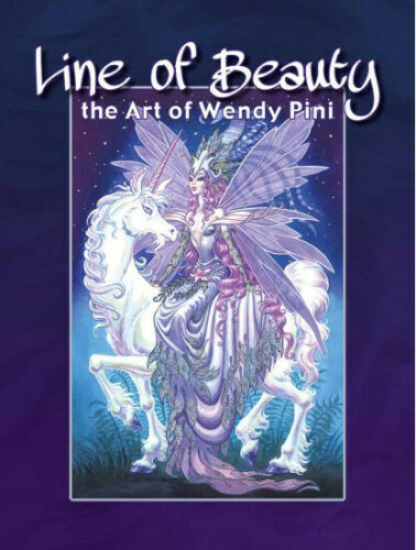 """beautiful book /""""LINE of BEAUTY the ART of WENDY PINI/"""" HC by R Pini SIGNED!"""