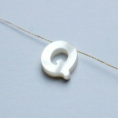 Alphabet Letter Mother of pearl T Bead Shell Jewellery Making Bracelet Necklace