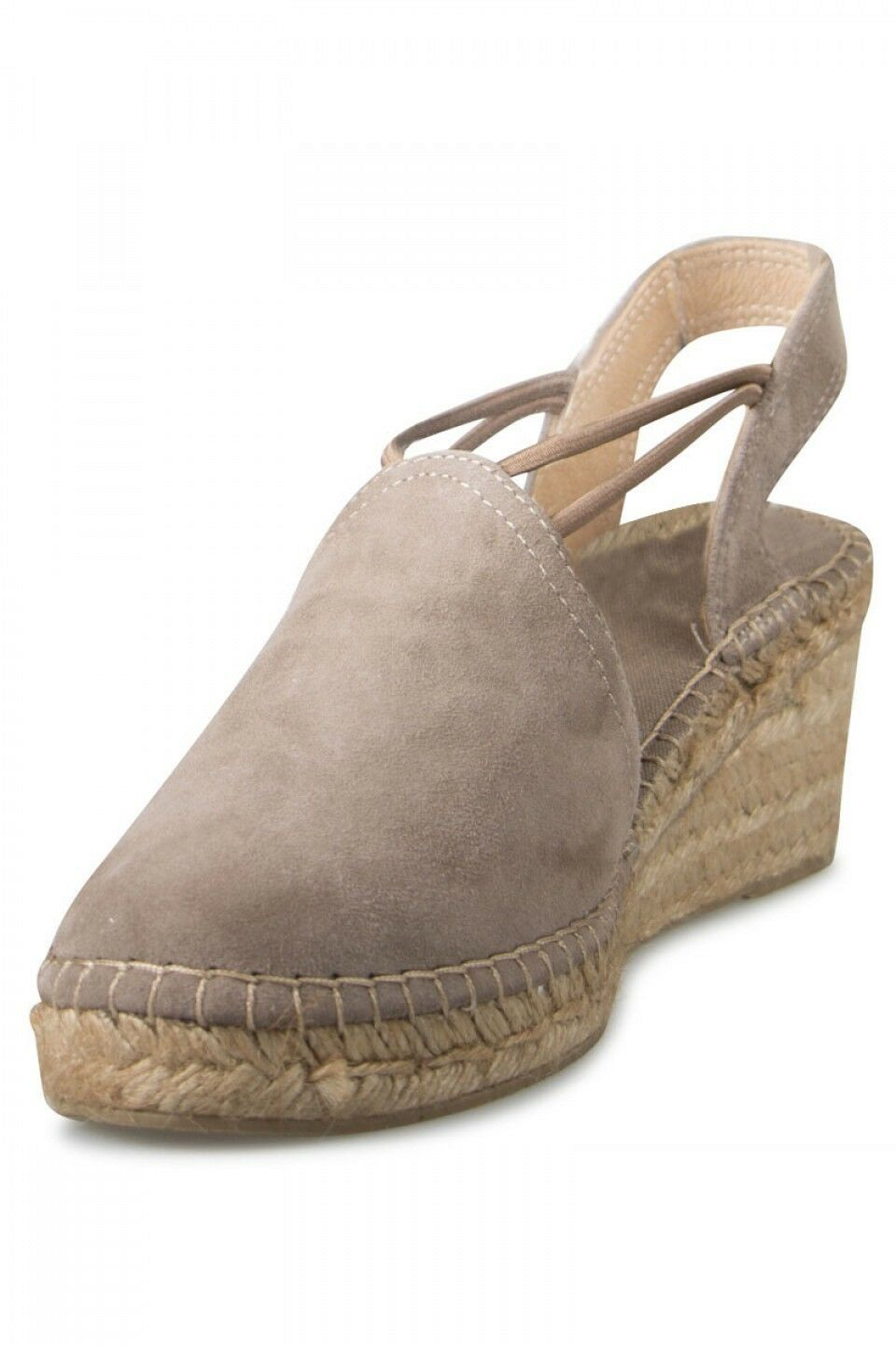 TONI PONS WOMEN'S TREMP WEDGE ESPADRILLES IN SUEDE, MADE IN SPAIN