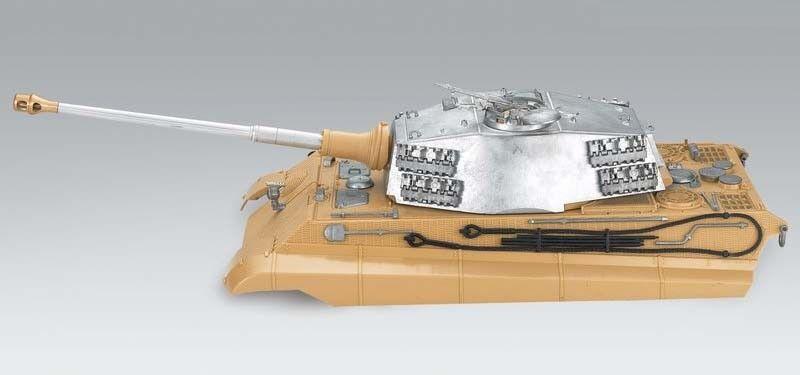 Torro 1 16 RC GERMAN KING TIGER superiore dello scafo in metallo TORRETTA BB Henschel UK