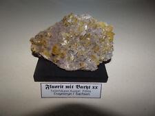 Baryt xx auf Fluorit xx von Pöhla,Erzgebirge 10,5x7 cm