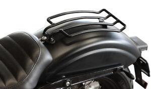 Schwarzer-Gepaecktraeger-33x15cm-Custom-Bike-Motorrad-Gepaeckhalter-schwarz
