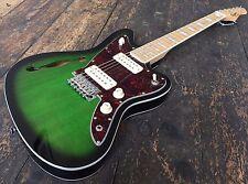 Revelation RJT60 Grün Burst Ahorn Thinline E-gitarre