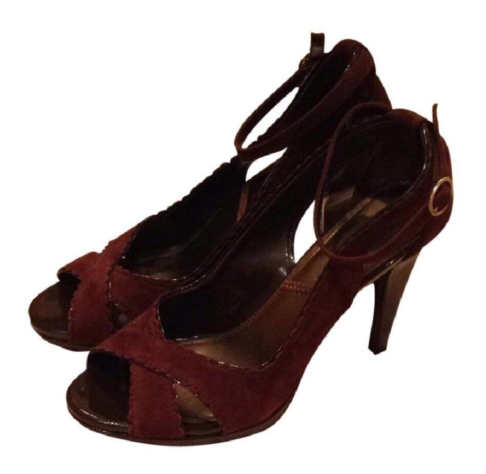 Tahari Peep Toe X-Strap Stiletto Stiletto Stiletto schuhe sz 7.5 FREE SHIPPING 931204