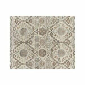 Crate & Barrel Orissa Neutral 5' x 8' Handmade 100% Wool Area Rugs & Carpet