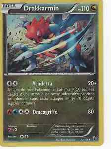 Carte Pokemon Neuve Française 70/106 Drakkarmin Holo XY2:Etincelles