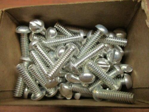 "10-24 x 3//4/"" Aluminum Round Head Machine Screws Slotted U.S.A New 100 Pcs"