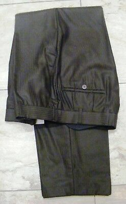 Brown wool blend pinstripe trousers to match frock coat select require size