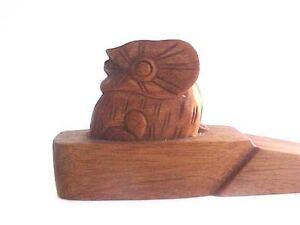 Owl Wooden Doorstop Bird Wood Door Stop Wedge Sale